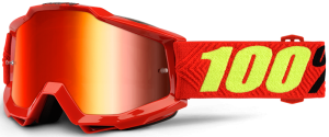 100% Accuri YOUTH Goggle Saarinen – Red Mirror Lens