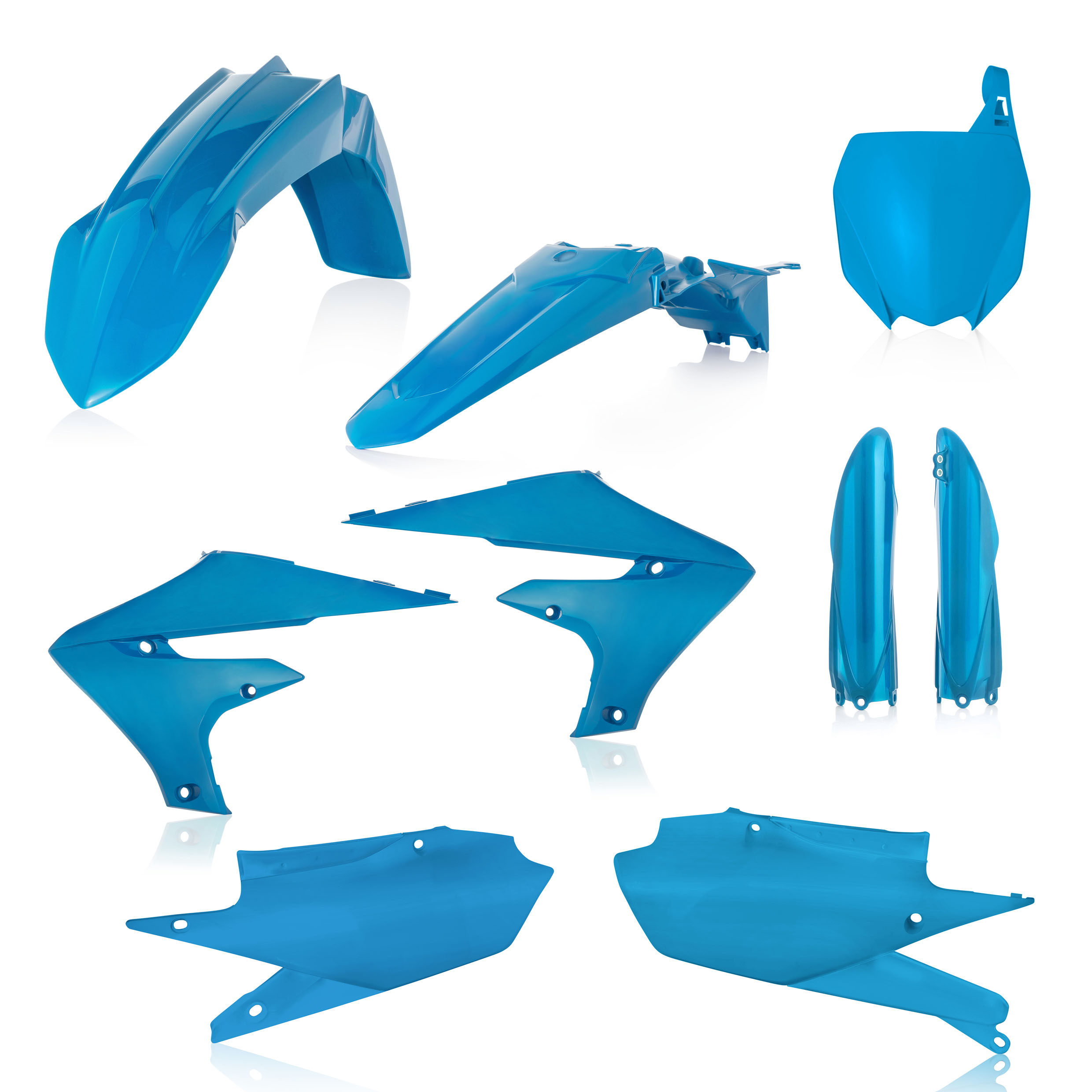Ktm Parts Uk >> Acerbis Plastic Kit Yamaha YZF 450 2018 Light Blue