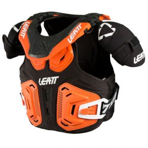 2018 Leatt Fusion 2.0 Junior Neck Brace & Body Protector Orange/Black