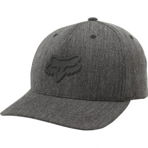 Fox Heads Up 110 Snapback Hat Heather Black