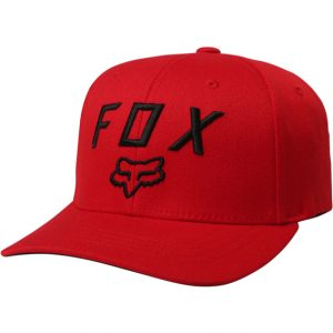 Fox Legacy Moth 110 Snapback Hat Dark Red