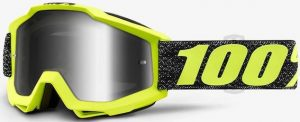 100% Accuri Goggle Tresse – Silver Mirror Lens + Clear Lens