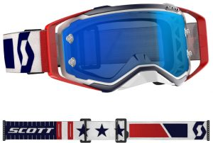 Scott Prospect LE Military Appreciation Goggle Red/White/Blue – Electric Blue Chrome Lens