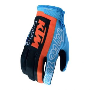 2018 Troy Lee Air Team KTM Glove Navy/Cyan