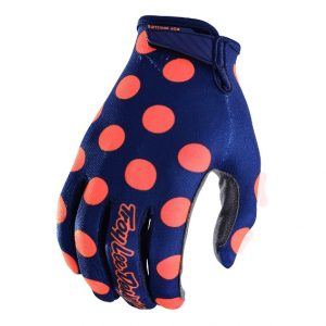 2018 Troy Lee Air Polka Dot Glove Navy/Orange