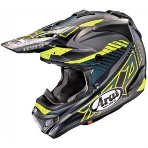 2018 Arai MX-V Slash Helmet Frost Black