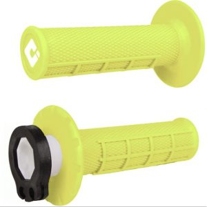 ODI Lock-On Half Waffle Grip Flo-Yellow