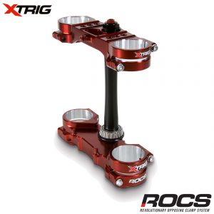 Xtrig ROCS Pro Triple Clamp Set Honda CRF250 14-18 CRF450 13-18 (OS 20-22mm) M12 (Complete With Bar Mounts)