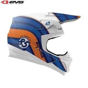 2018 EVS T5 Cosmic Adult Helmet Blue/Orange
