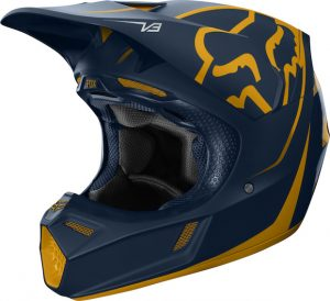 2019 Fox V3 Kila Helmet Navy/Yellow