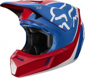 2019 Fox V3 Kila Helmet Blue/Red