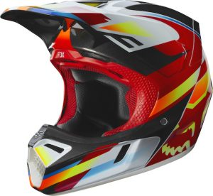 2019 Fox V3 Motif Helmet Red/Yellow