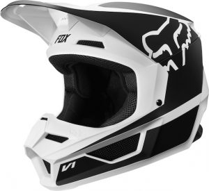 2019 Fox V1 YOUTH Przm Helmet Black/White