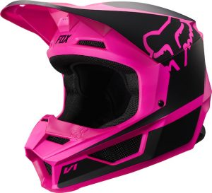 2019 Fox V1 YOUTH Przm Helmet Black/Pink