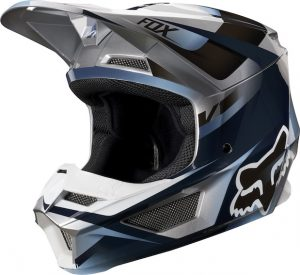 2019 Fox V1 YOUTH Motif Helmet Blue/Grey