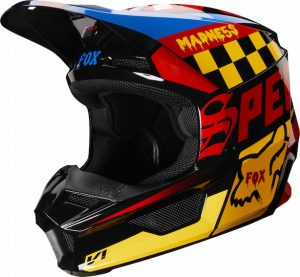 2019 Fox V1 CZAR Helmet Black/Yellow