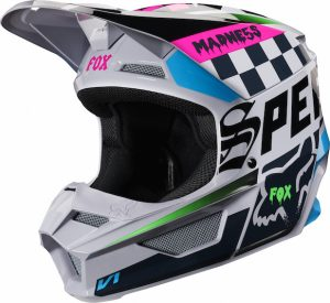 2019 Fox V1 YOUTH Czar Helmet Light Grey
