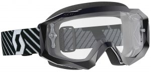 2019 Scott Hustle Goggle Black/White – Clear Lens