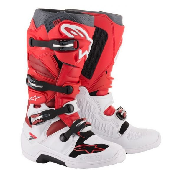 Alpinestars Tech 7 Boot White/Red/Burgundy - A12014203309