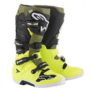 2019 Alpinestars Tech 7 Boot Yellow Fluo/Military Green/Black