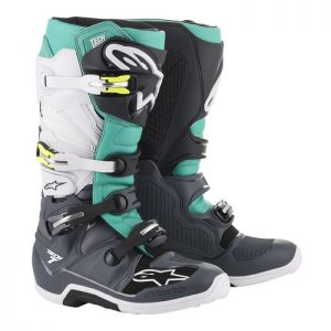 2019 Alpinestars Tech 7 Boot Dark Grey/Teal/White