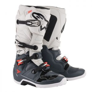 2019 Alpinestars Tech 7 Boot Dark Grey/Light Grey/Fluo Red