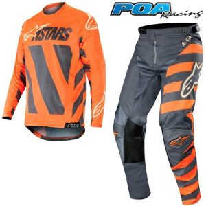 2019 Alpinestars Racer Braap Kit Combo Anthracite/Orange Fluo/Sand