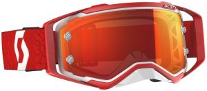 2019 Scott Prospect Goggle White/Red – Orange Chrome Lens