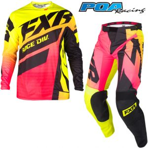 2019 FXR Clutch Podium Kit Combo Hi-Vis/Coral Fade/Black