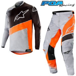 2019 Alpinestars Racer Supermatic Kit Combo Light Grey/Orange Fluo/Black