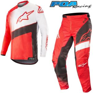 2019 Alpinestars Racer Supermatic Kit Combo Red/Black/White