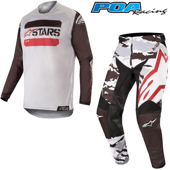 2019 Alpinestars YOUTH Racer Tactical Kit Combo Black Grey Red Fluo 8f5c0a0fb