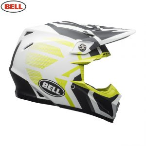 2018.2 Bell Moto-9 Mips Helmet District Matte White/Black/Green