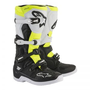 2019 Alpinestars Tech 5 Boot Black/White/Yellow Flo