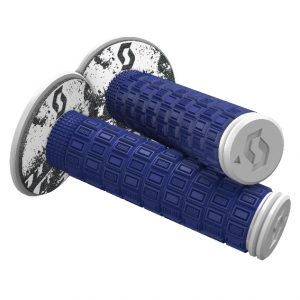 Scott Mellow MX Grips + Donuts Blue/White