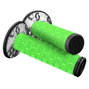 Scott Mellow MX Grips + Donuts Neon Green/Black