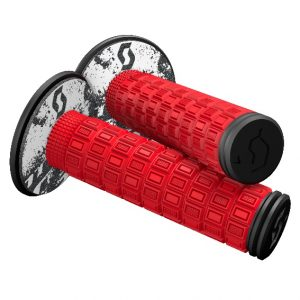 Scott Mellow MX Grips + Donuts Neon Red/Black