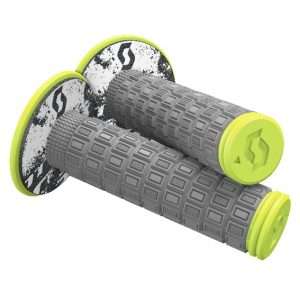 Scott Mellow MX Grips + Donuts Grey/Neon Yellow