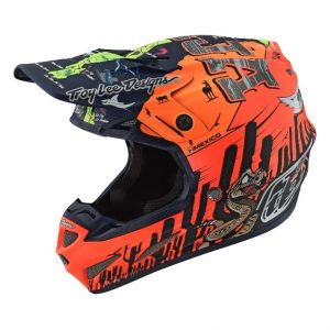 2019 Troy Lee SE4 Composite Baja Helmet Orange