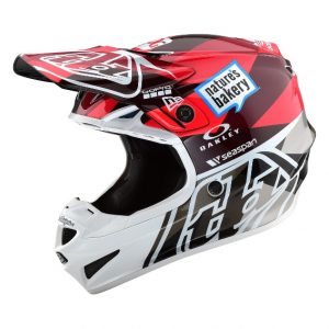 2019 Troy Lee SE4 Polyacrylite Jet Helmet Orange/Grey