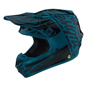 2019 Troy Lee YOUTH SE4 Factory Helmet Ocean