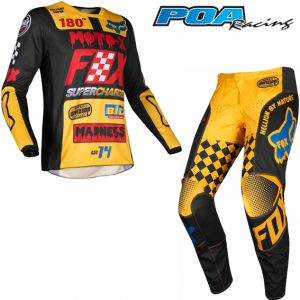 2019 Fox 180 KIDS Czar Kit Combo Black/Yellow