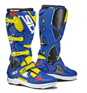 2019 Sidi Crossfire 3 SRS Boots Yellow Fluo/Blue