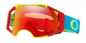 Oakley Airbrake MX Goggle Flo Red/Green/Blue – Torch Prizm Lens