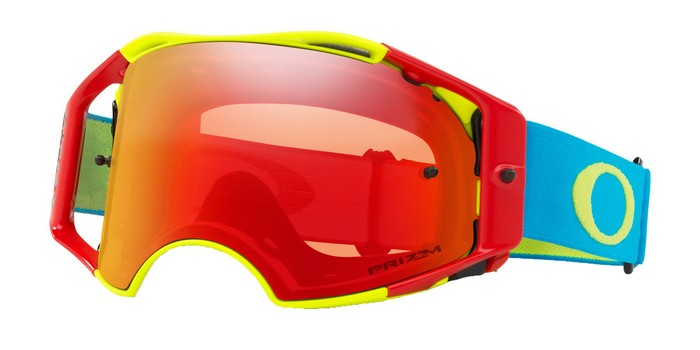 6cfd97855f Oakley Airbrake MX Goggle Flo Red Green Blue - Torch Prizm Lens