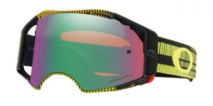 Oakley Airbrake MX Goggle Frequency Green/Yellow – Jade Prizm Lens