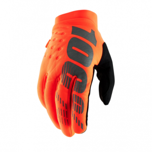 2019 100% Brisker Glove Fluo Orange