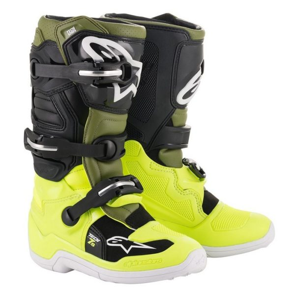 Alpinestars Tech 7s YOUTH Boot Yellow Fluo/Military Green/Black - image187602702