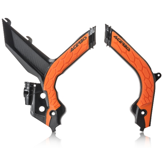 Acerbis X-Grip Frame Guards KTM SXF 250/350/450 SX 125/150/250 2019  Black/Orange