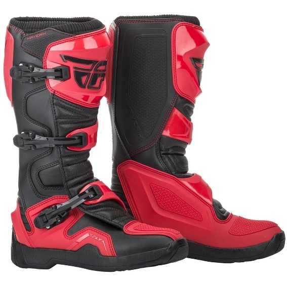 2019 Fly Maverick Boots Black Red - Fly Motocross Boots 0d42f4482